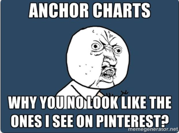 #thepensivesloth #teacherhumor anchor charts y u know meme