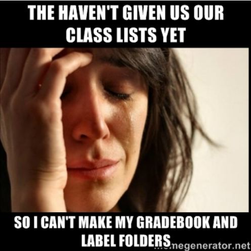 Back to School #teacherproblems from The Pensive Sloth