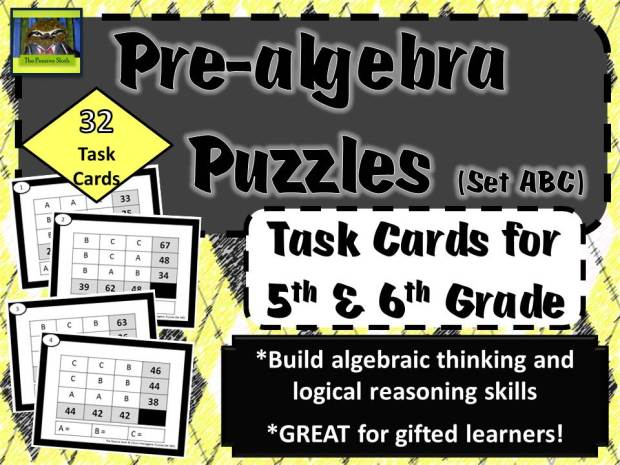@ThePensiveSloth prealgebra puzzles for 5th and 6th grade