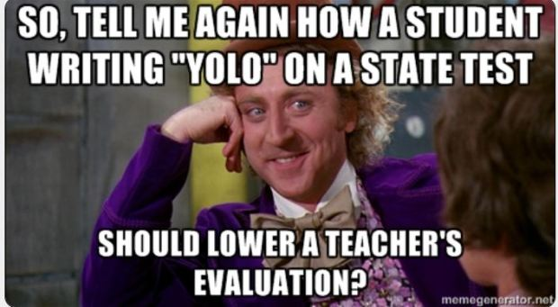 #thepensivesloth #teacherproblems meme #teacherhumor Willy Wonka YOLO test