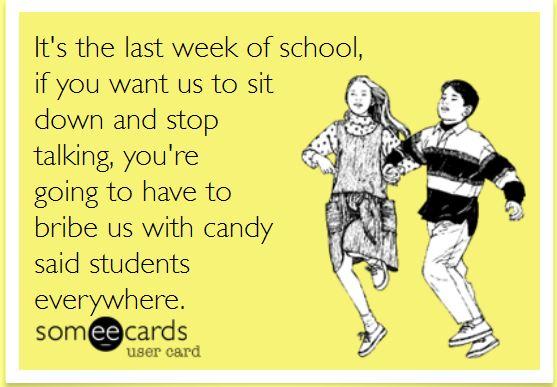 @thepensivesloth Last week of school ecard 5th grade