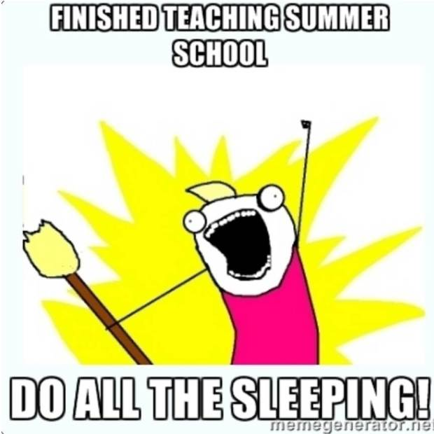 Finished teaching summer school...do ALL the sleeping!