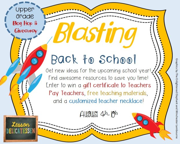 Blasting Back to School Blog Hop and Giveaway from thelessondeli
