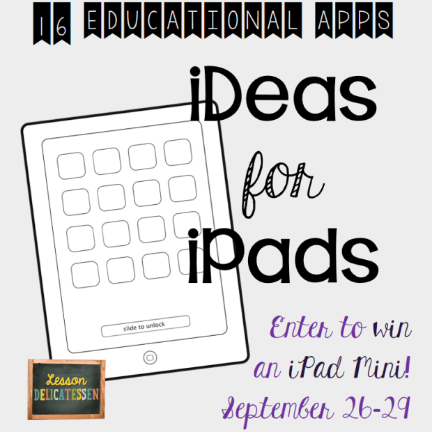 iPad Ideas and Giveaway from The Lesson Deli