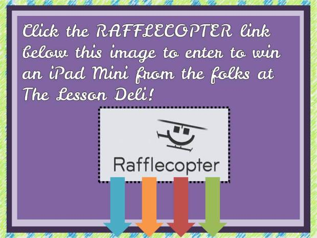 Rafflecopter Button for iPad Giveaway from The Lesson Deli