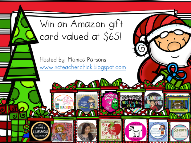 Christmas Giveaway Amazon Gift Card from NC Teacher Chick December 2014