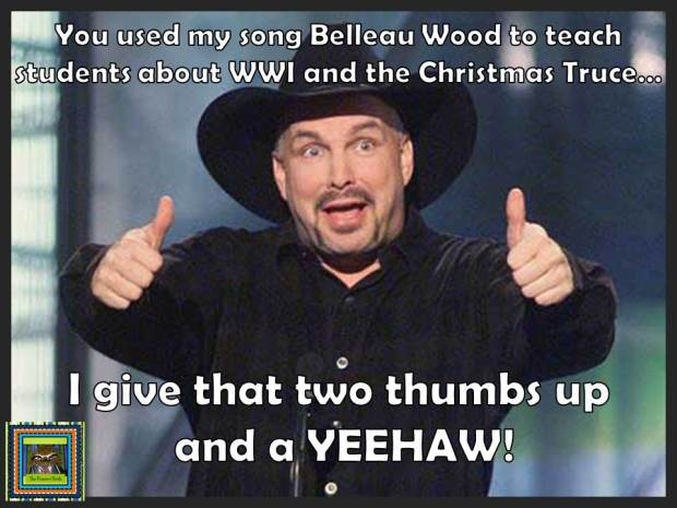 Garth Brooks Thumbs Up Meme World War 1 and The Christmas Truce Lesson