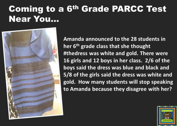 #THEDRESS memes and test prep for teachers from The Pensive Sloth STAAR FCAT PARCC Math Problem Solving #teacherproblems