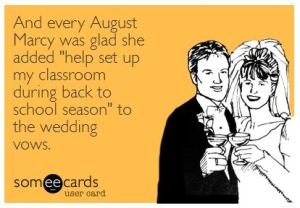 Back to School Humor from The Pensive Sloth Wedding Vows