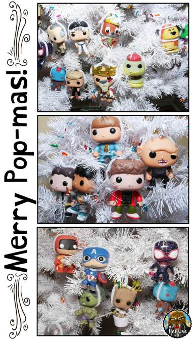 Funko Pop Theme Christmas Tree from The Pensive Sloth Merry Popmas Goonies, Marvel Superheroes, and Robin Hood