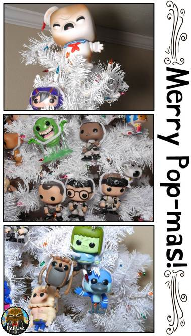 Funko Pop Theme Christmas Tree from The Pensive Sloth with Ghostbusters and Regular Show