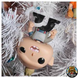 Funko Pops Theme Christmas Tree from The Pensive Sloth Sloth Hangin Upside Down