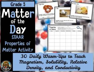 Teaching Properties of Matter Daily Review Slides and Task Cards from The Pensive Sloth
