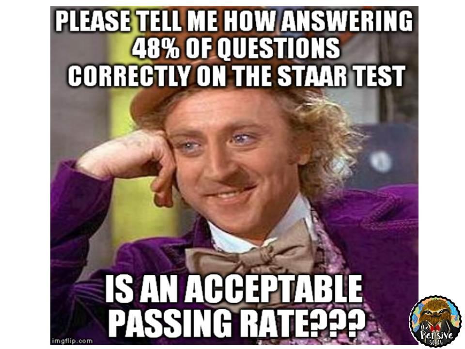 staar test wonka passing rate funny staar test the pensive sloth,Staar Meme