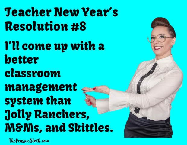Teacher New Years Resolutions